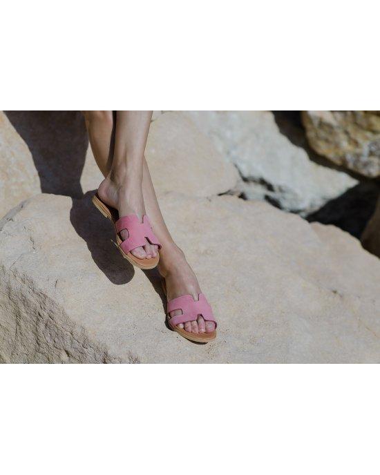 Hermes Pink Suede